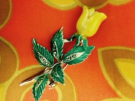 Yellow Rose Brooch - Vintage Pin (SOLD)